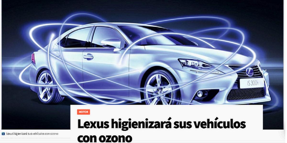 Lexus opta por higienizar sus vehículos con maquinas de ozono, Máquina de Ozono